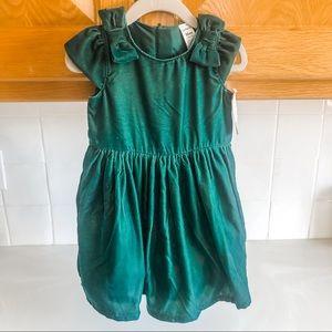Carter's Velvet Holiday Dress - Green